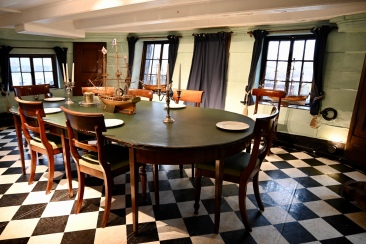 Officers' dining room