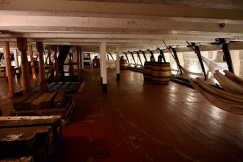 Sailors' dining to left, sleeping to right