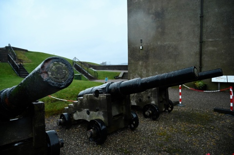 Broughty Castle guns