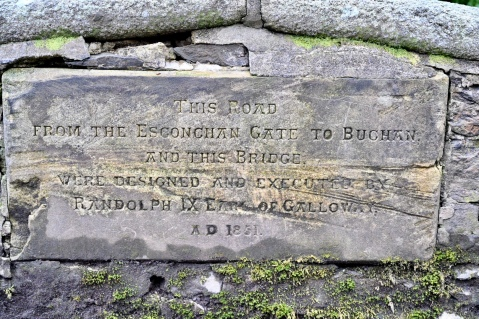"""By Randolph IX Earl of Galloway AD 1851"""