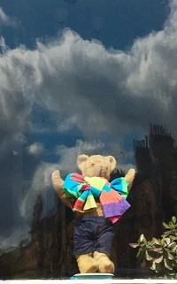 Teddy with clouds