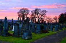 Old Town Cemetery at sunset