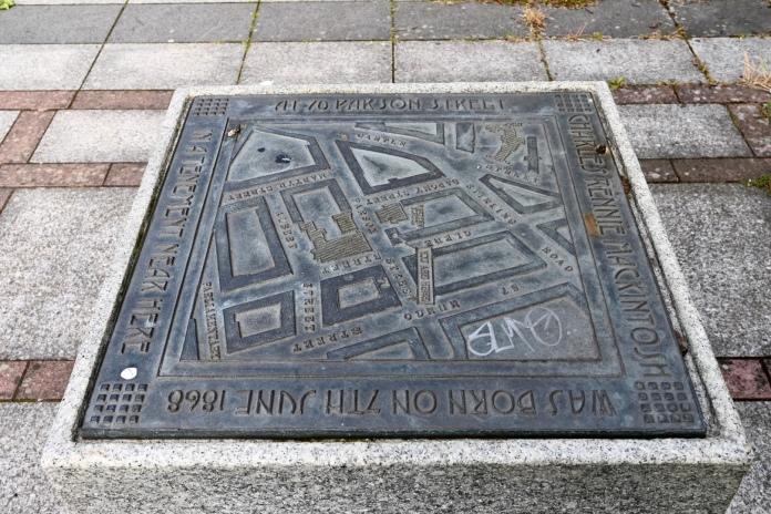 Mackintosh birthplace plaque