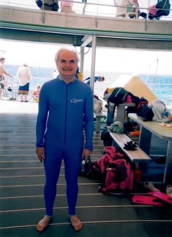 John ready to snorkel