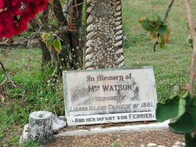 Mrs Watson's grave