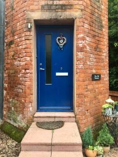 Front door in chimney