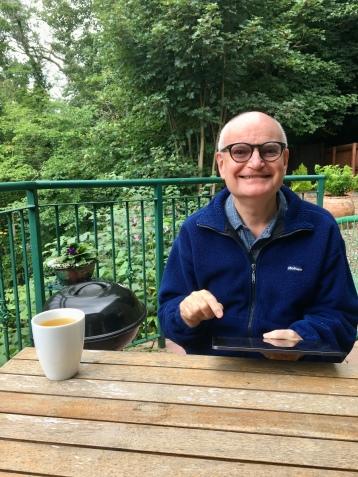 John on patio