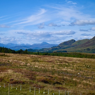 View of Campsies and Ben Lomond