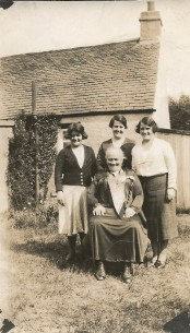 Janet with Chris, Mary and Annie