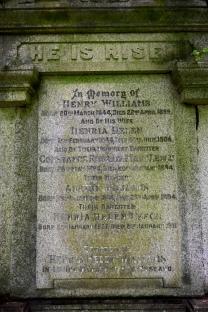 Henria Williams' grave