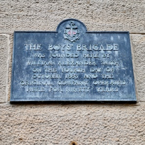 Boys' Brigade foundation plaque