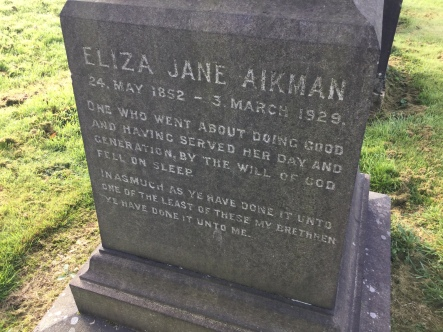 Glasgow Necropolis: Eliza Jane Aikman