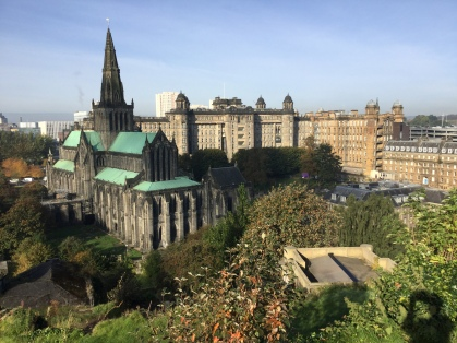Glasgow Cathedral and Royal Infirmary from the Necropolis