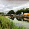 Canal bridge at Claypits underconstruction