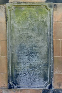 Tombstone for the Graham family