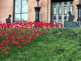 Remembrance poppies, Kelvinside Academy