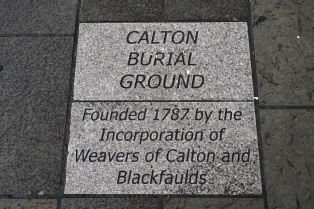 Calton Burial Ground inscription