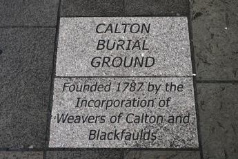 Calton Burial Ground inscription