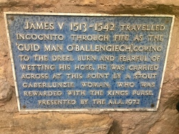 Plaque on Dreel Tavern