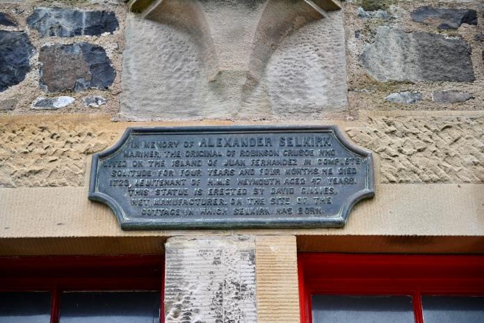 Plaque about Alexander Selkirk