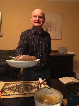 John addressing the haggis
