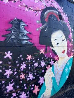 Japan Street Food mural