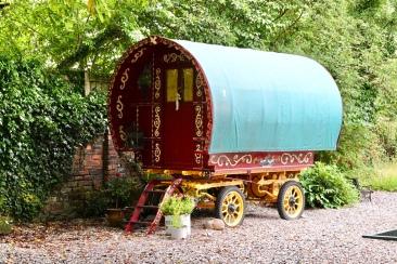 Green roofed caravan