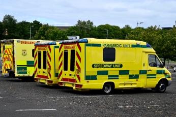 Ambulances at Louisa Jordan