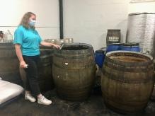 Barrels fermenting