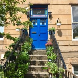 Blue door, North Kelvinside