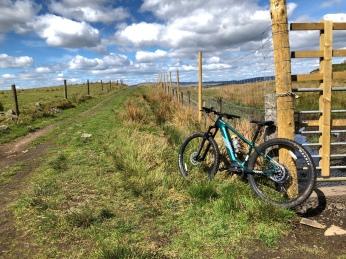 John's mountain bike near Lennoxtown