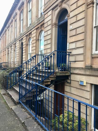 Blue doors: North Kelvinside