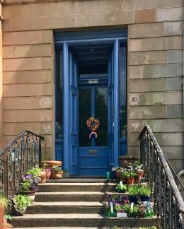 Blue door in lockdown