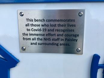 Royal Alexandra Hospital Covid bench